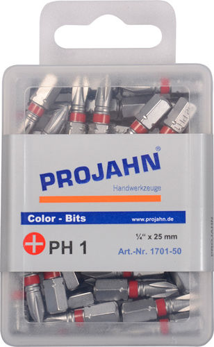 "Projahn Color Bits 1/4"" PH 2x25 - 50 Stück"